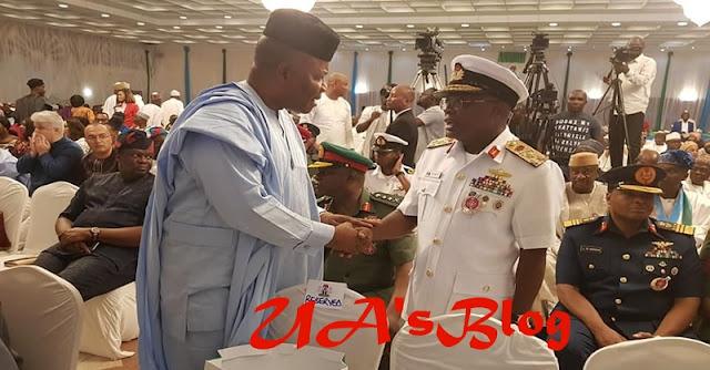 Atiku kicks as service chiefs attend Buhari's campaign launch