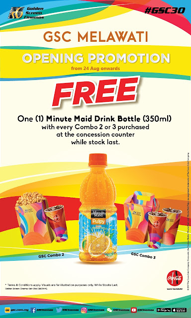 GSC Melawati Mall Opening FREE Minute Maid Drink Bottle
