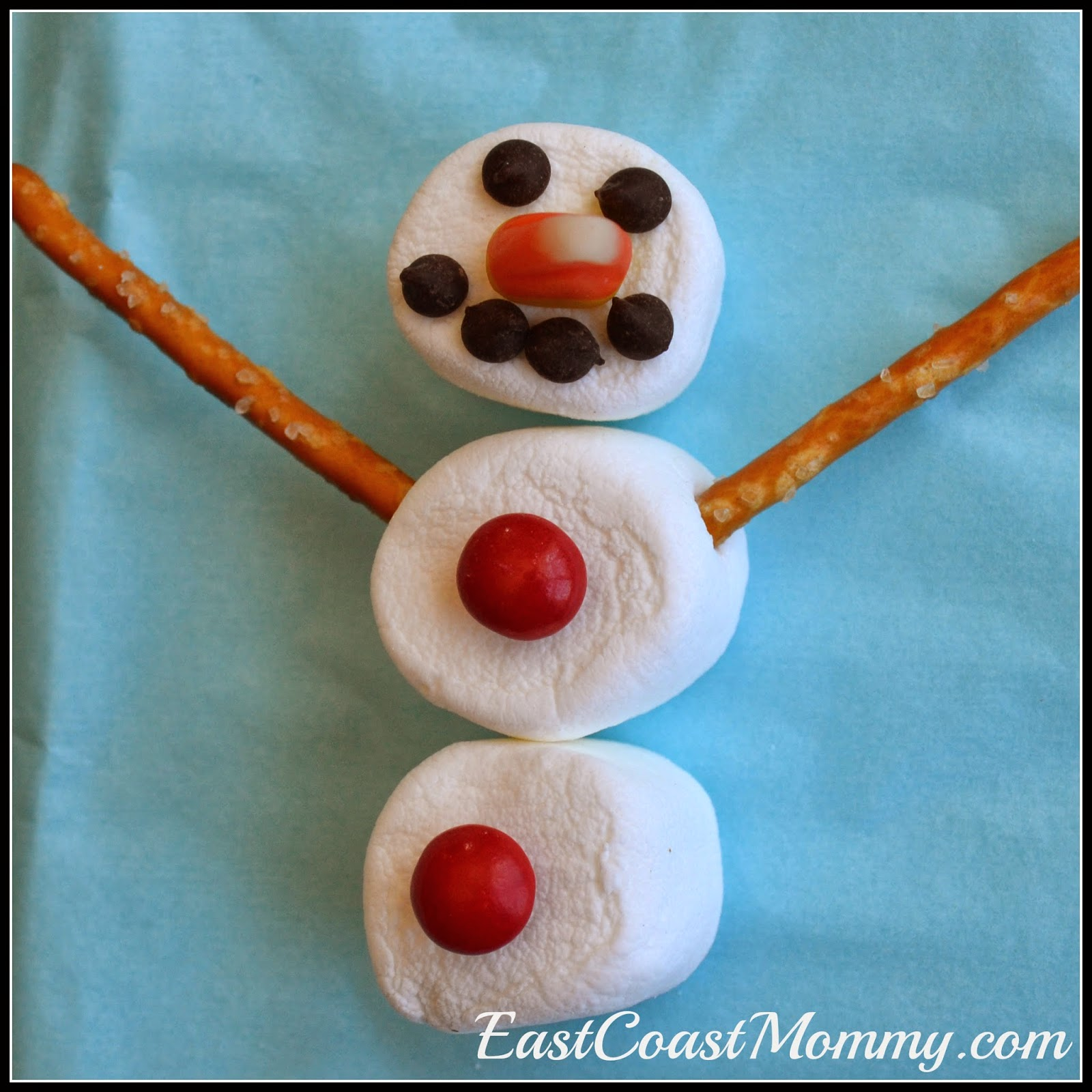 east coast mommy snowman goodie bag with free printable