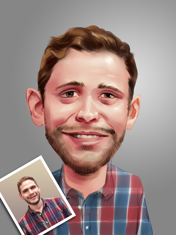 professional caricature digital painting