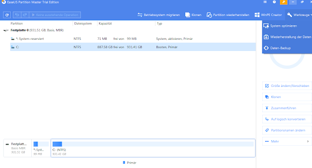 EaseUS Partition Master 13.8 WinPE