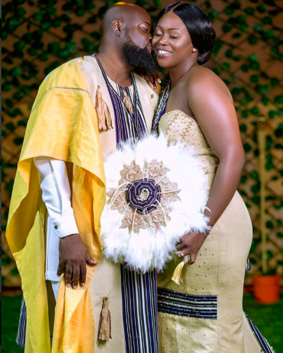 Sammy Forson marries his sweetheart Pearl Johnson in a traditional ceremony in Bolgatanga