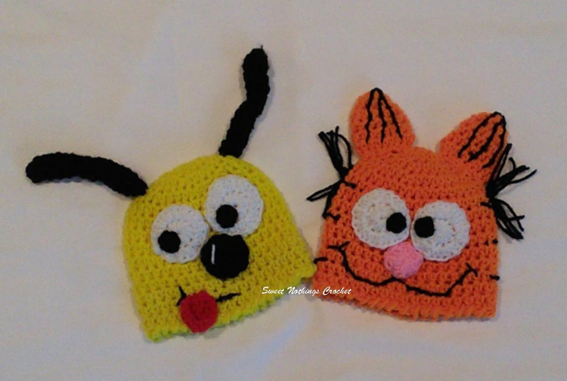 101f1e177a6 Sweet Nothings Crochet  PREEMIE CAPS 28 - GARFIELD  n ODIE CAPS