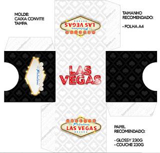 Caja Tarjeta para Imprimir Gratis de Fiesta de Las Vegas.