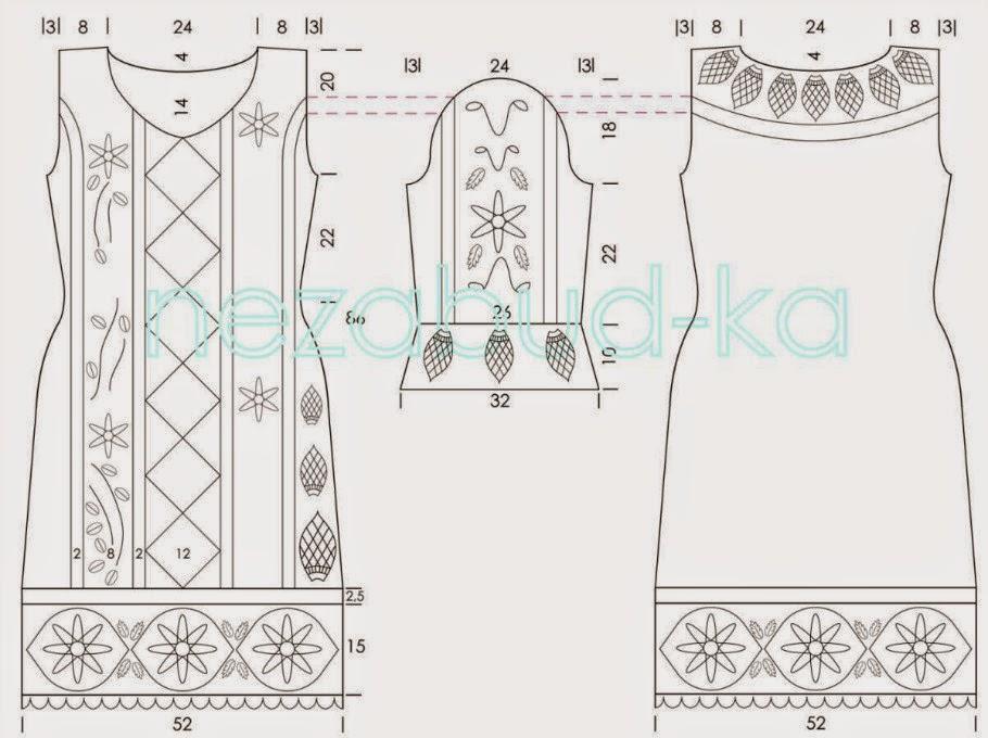 schemat sukienki szydelkiem
