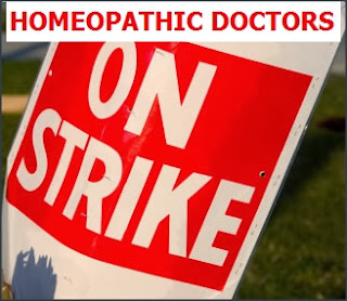Homeopathy doctors on strike