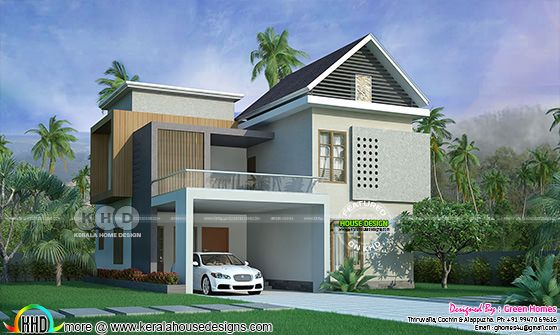 Stylish 4 bedroom 1800 square feet home architecture