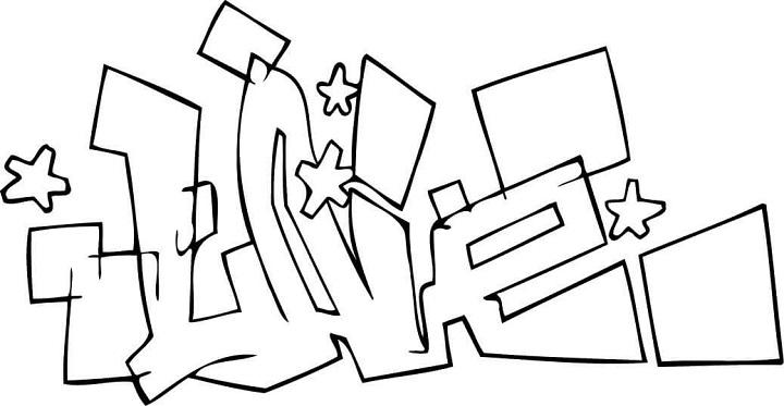 Sister Love Art Block Letters  S