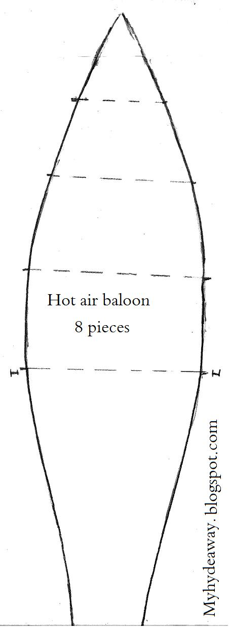 My Craft and Garden Tales: Template for a 3D paper hot air