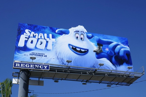Smallfoot film billboard