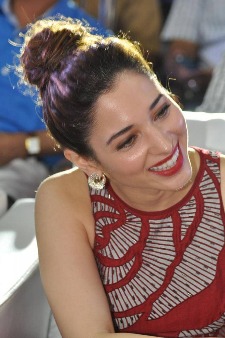 Tamanna Latest Stills In Hot Red Dress