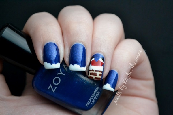 Nails By Kayla Shevonne When Santa Got Stuck Up The Chimney nail art