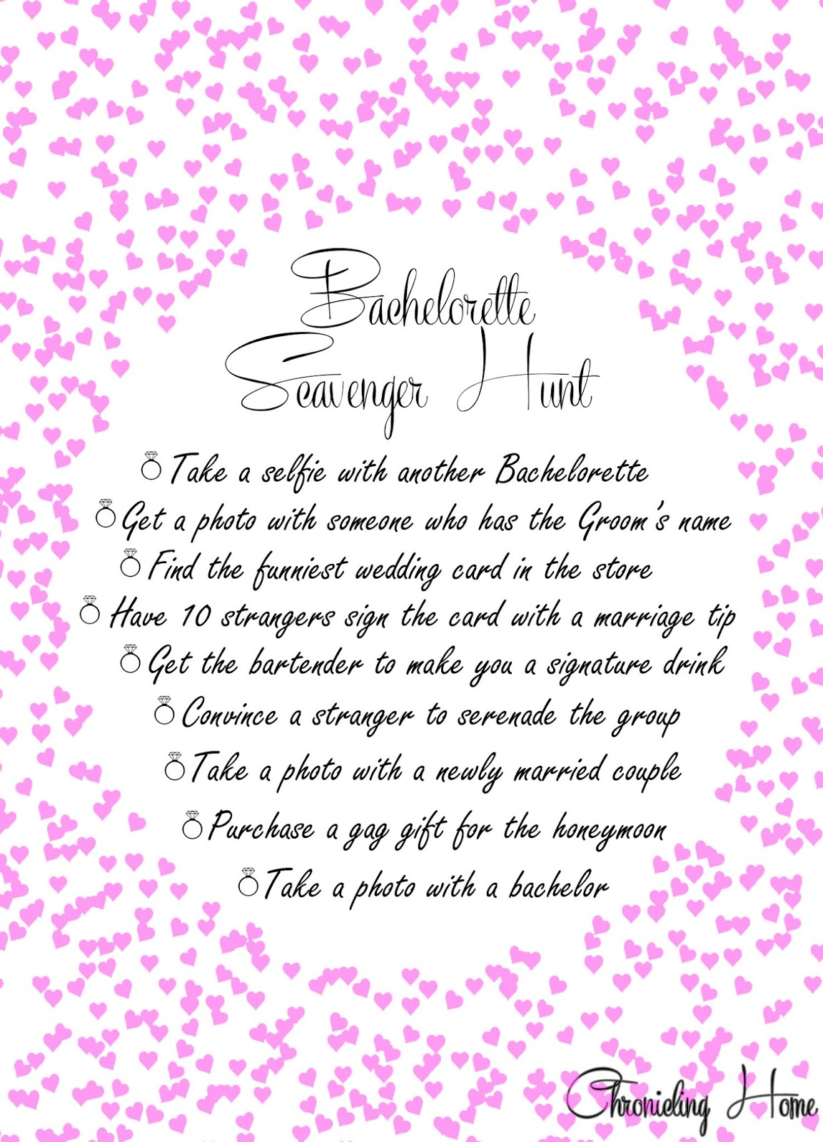 picture relating to Bachelorette Scavenger Hunt Printable named Bachelorette Scavenger Hunt + Printable - Chronicling Property
