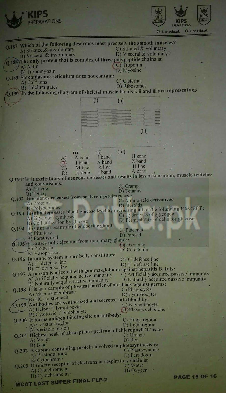 4 KIPS MCAT Biology Full Length Paper-2