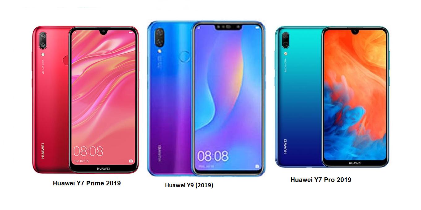 Huawei Y9 (2019) Vs Huawei Y7 Prime 2019 Vs Huawei Y7 Pro 2019 Specs