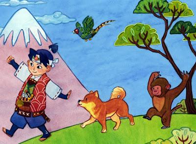 la leyenda de momotaro perro mono y faisan