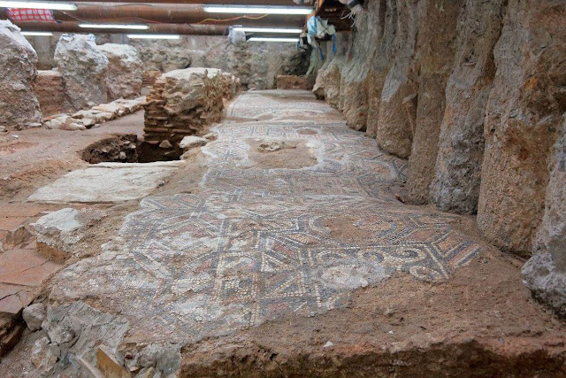 Mosaics found during metro excavation in Thessaloniki belong to large Roman villa