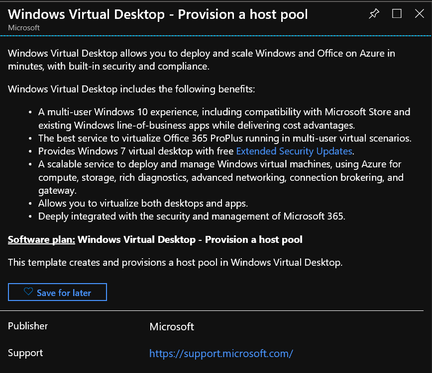 The Microsoft Platform: Windows Virtual Desktop: Public
