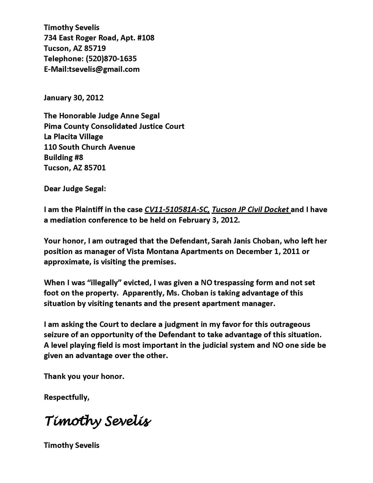 How Write A Letter To A Judge For Traffic Ticket