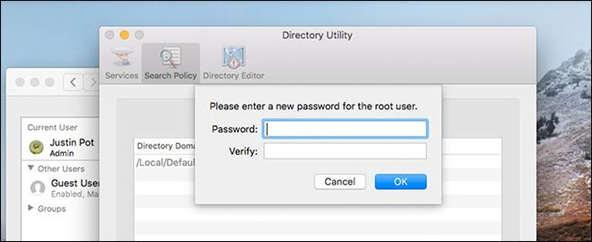 Inserire una password sicura