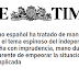 «España, otra vez», 'The Times' ataca con dureza a Mariano Rajoy