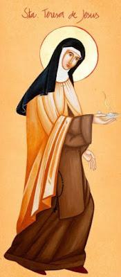 Santa Teresa d'Ávila - Ícones para grupo de oração, seminário de vida no Espírito Santo e eventos