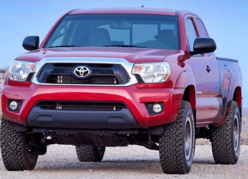 Big Red Toyota Tacoma Strong Design 2016