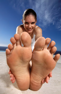 Woman with Healthy Feet