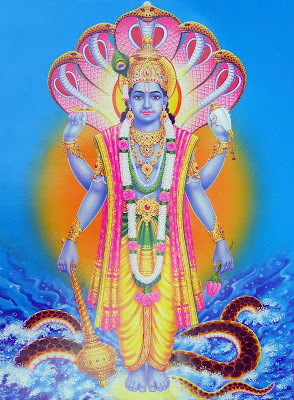 Picture of Lord Vishnu or Hindu God Mahavishnu