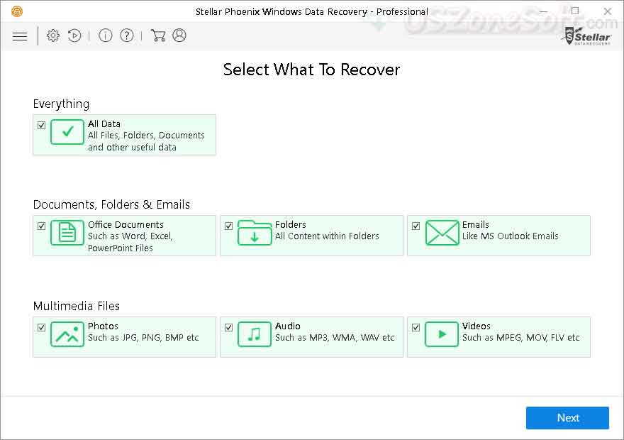 Stellar Phoenix Windows Data Recovery- screen 2