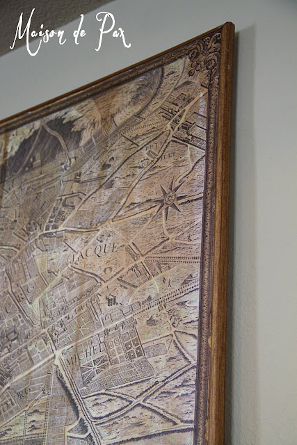 Vintage Wall Map of Paris- Maison de Pax