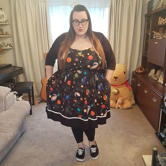 Modcloth space plus size dress
