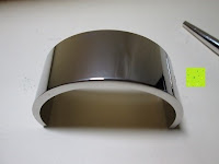 Ständer unten: Kugelschreiber Bow Aluminium silber Ständer