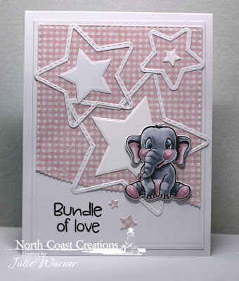 North Coast Creations Stamps & Dies: Bundle of Love, ODBD Custom Dies: Double Stitched Rectangles, Double Stitched Stars, Sparkling Stars, Leafy Edged Borders, ODBD Paper Collection: Shabby Rose