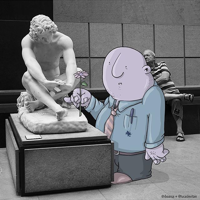 foto unik lucu kreatif dan inovatif foto asli yang dipadukan dengan kartun-1