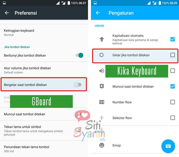 cara mengatur keyboard android agar tidak bergetar