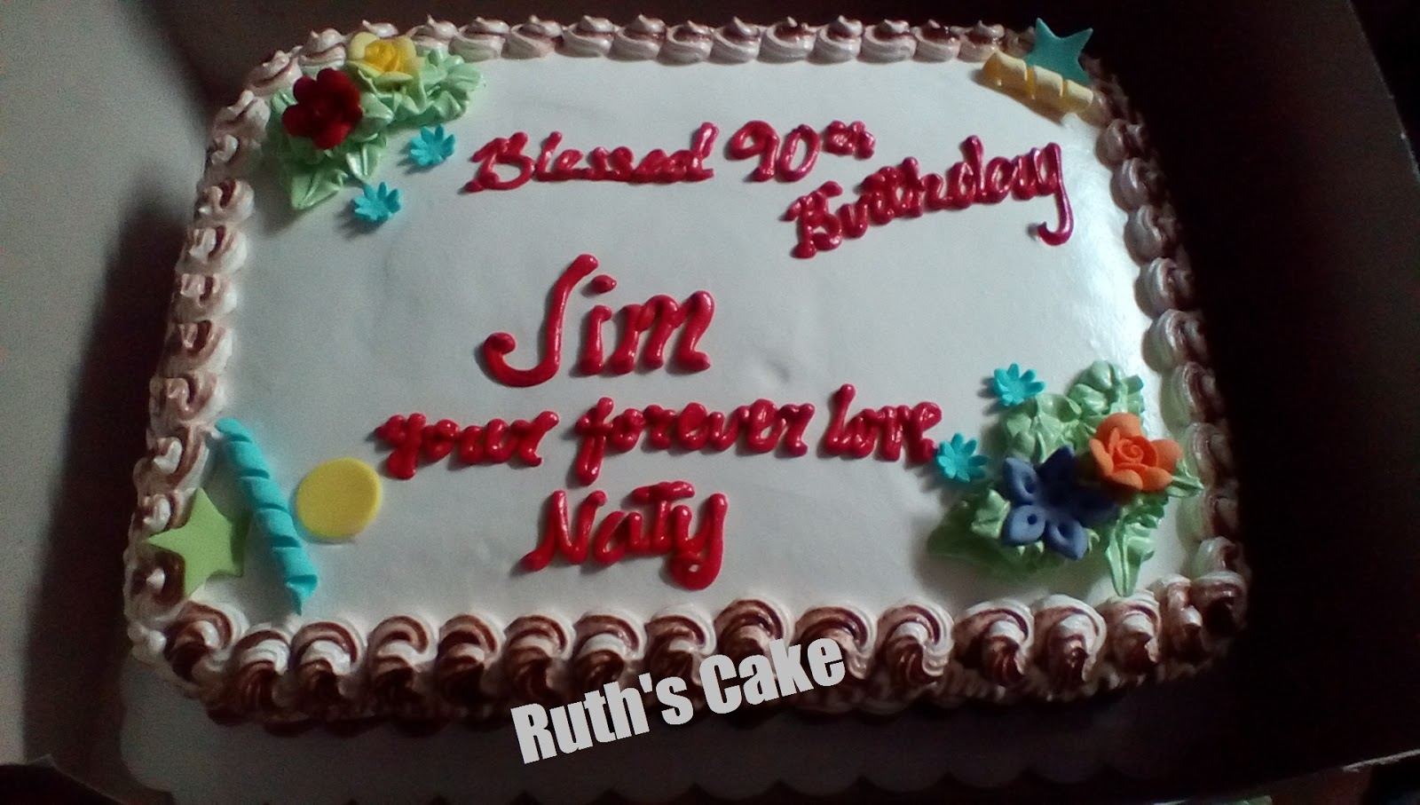 Husband And Wife Simple Birthday Cake