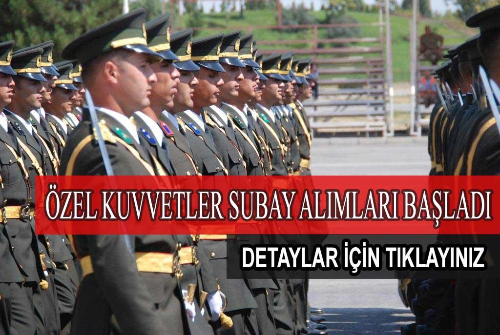 Özel Kuvvetler Komutanlığına Subay Alım Başvuruları Başladı