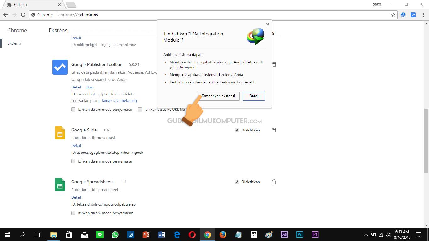 Cara Mengatasi Tombol Download IDM yang Tidak Muncul di YouTube