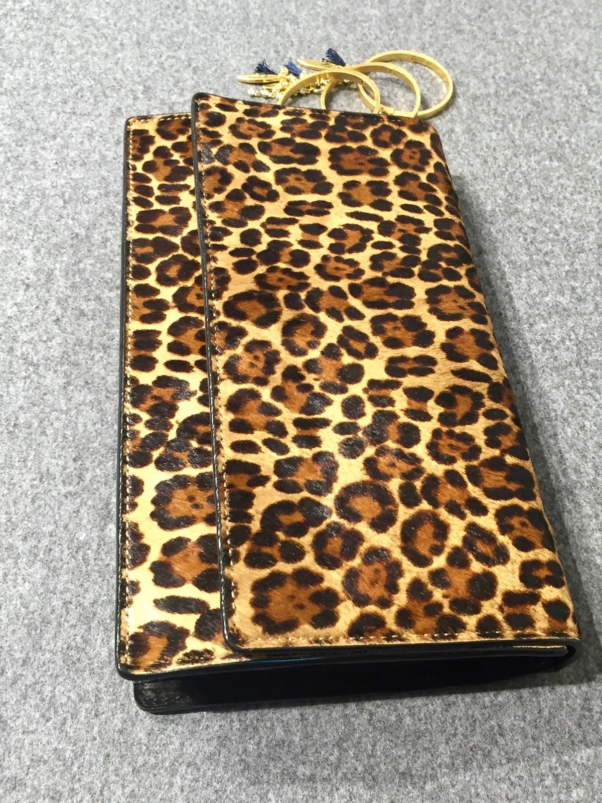 ann taylor leopard clutch