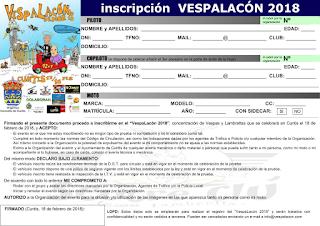Folla inscripción VespaLacón 2018