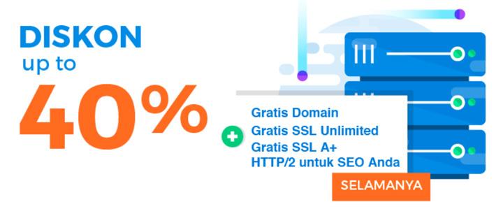 Promo web hosting dari Niagahoster