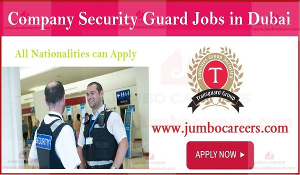 Shoe the details of latest security guard jobs in UAE, Job openings in UAE,