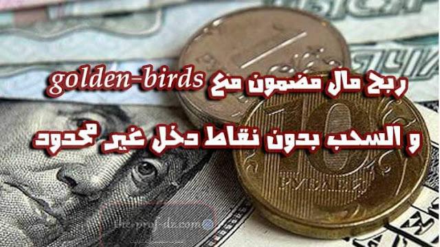 شرح موقع golden-bird لربح مال مضمون بدون نقاط منافس موقع golden-birds (جديد)