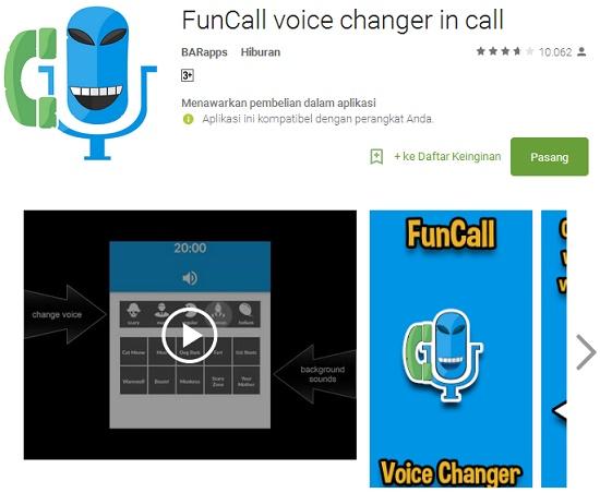 aplikasi Android pengubah suara saat menelpon