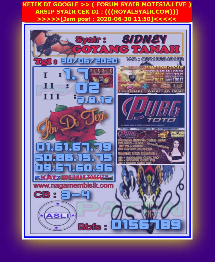 Kode syair Sydney Selasa 30 Juni 2020 13