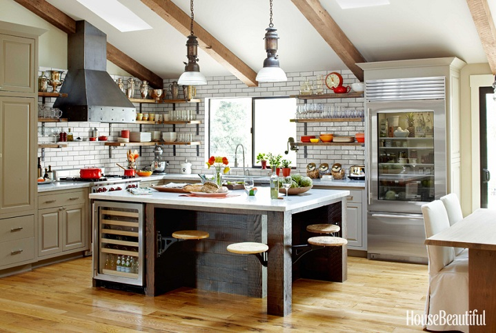 kitchen design industrial mix and chic a rustic industrial kitchen in napa valley 331