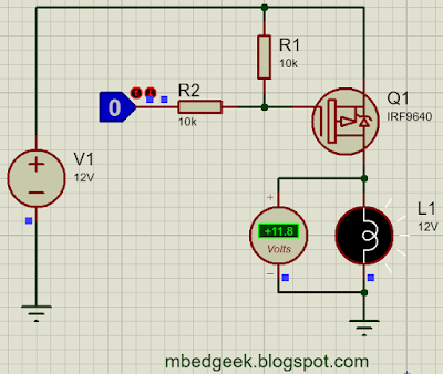 High Side Switching Using P-Channel MOSFET