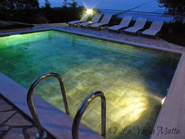 piscina Villa Kalogris a Cefalonia
