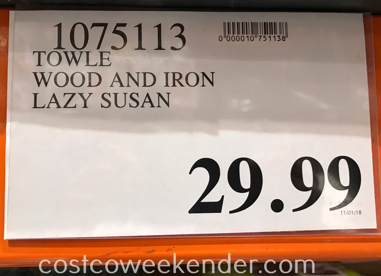 Deal for the Towle Wood and Iron Lazy Susan at Costco